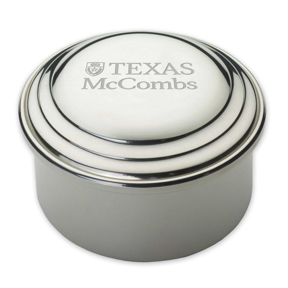 Texas McCombs Pewter Keepsake Box - Image 1