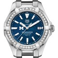 Michigan Ross Women's TAG Heuer 35mm Steel Aquaracer with Blue Dial - Image 1