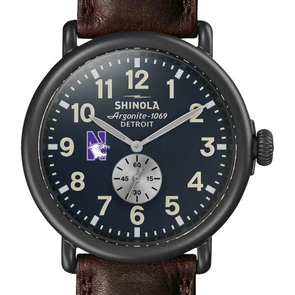 Northwestern Shinola Watch, The Runwell 47mm Midnight Blue Dial