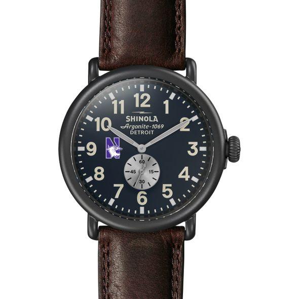 Northwestern Shinola Watch, The Runwell 47mm Midnight Blue Dial - Image 2