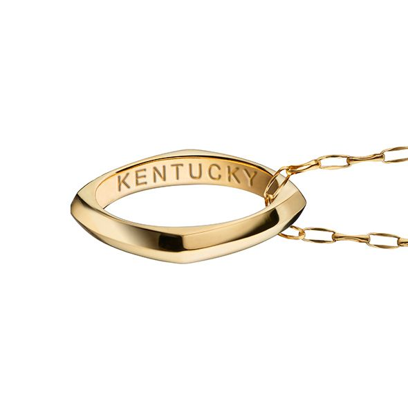 University of Kentucky Monica Rich Kosann Poesy Ring Necklace in Gold - Image 3