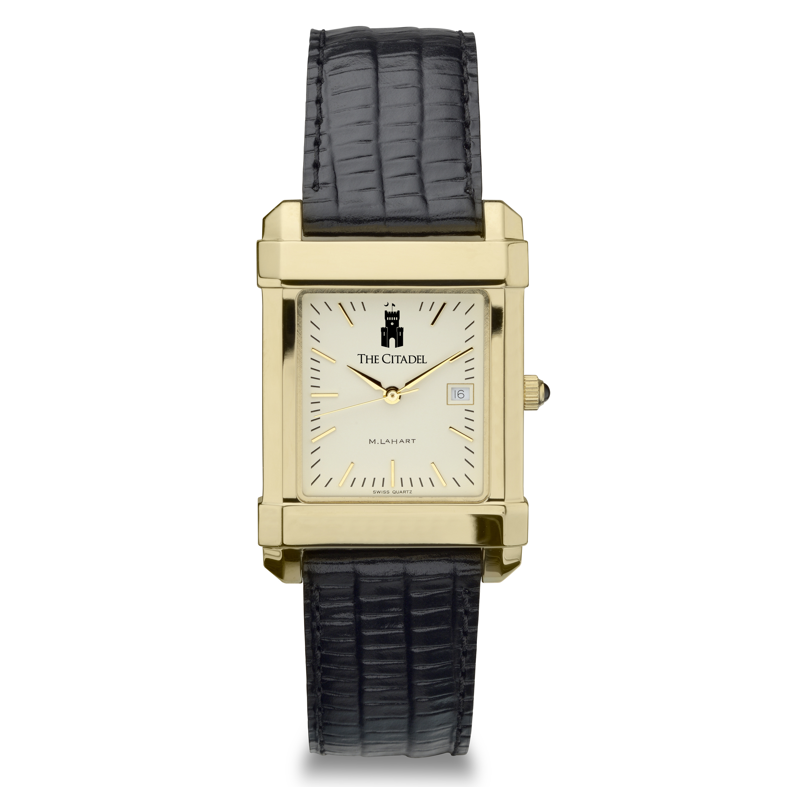 Citadel Men's Gold Quad Watch with Leather Strap - Image 2