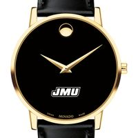 James Madison University Men's Movado Gold Museum Classic Leather