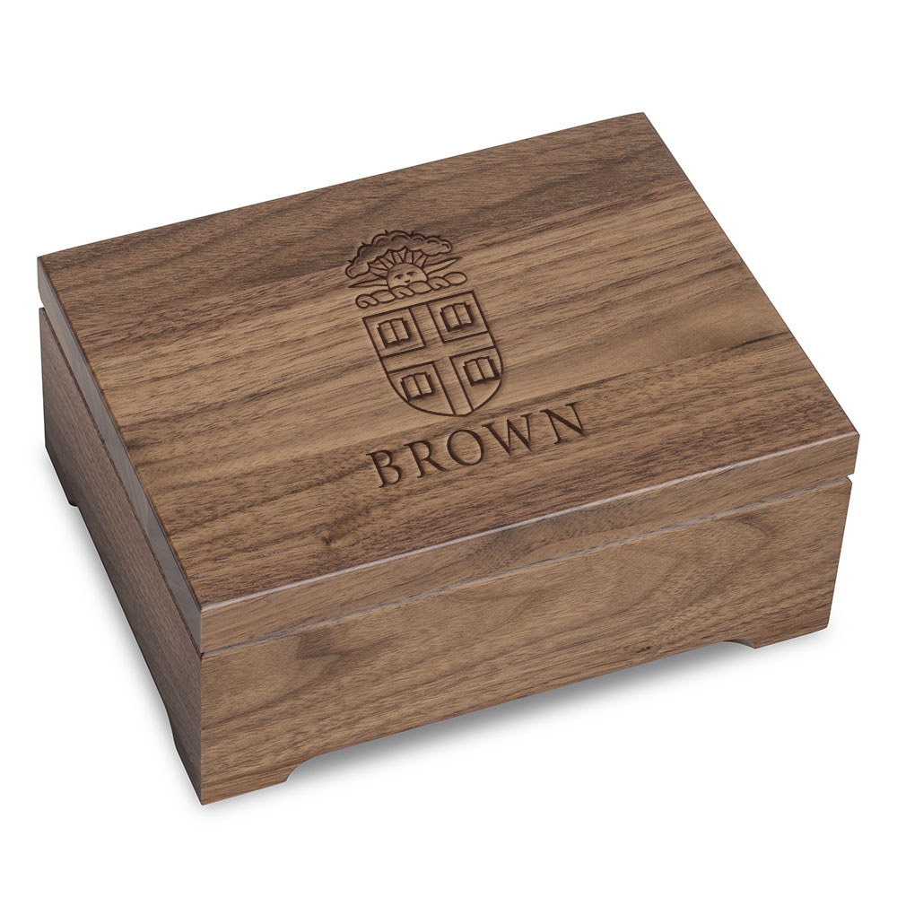 Brown University Solid Walnut Desk Box