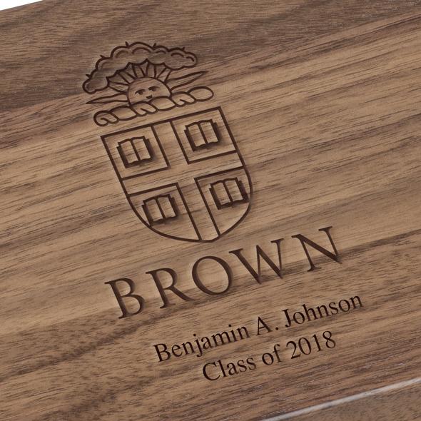 Brown University Solid Walnut Desk Box - Image 3