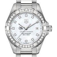 Gonzaga University Women's TAG Heuer Steel Aquaracer with MOP Diamond Dial & Bezel