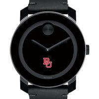 Boston University Men's Movado BOLD with Leather Strap