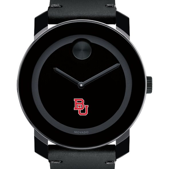 Boston University Men's Movado BOLD with Leather Strap - Image 1