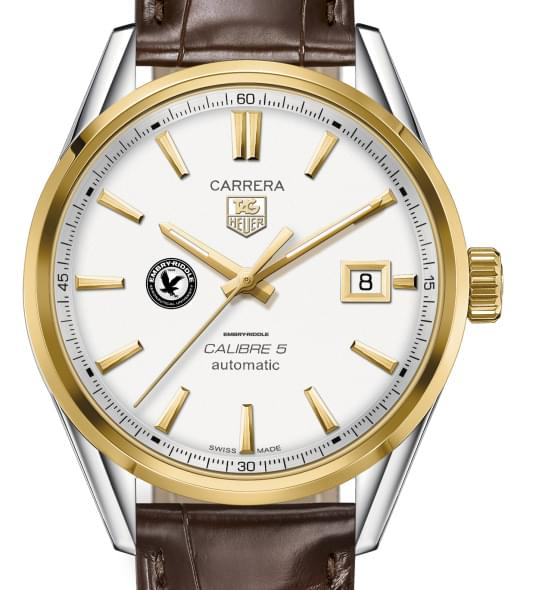 Embry-Riddle Men's TAG Heuer Two-Tone Carrera with Strap - Image 1