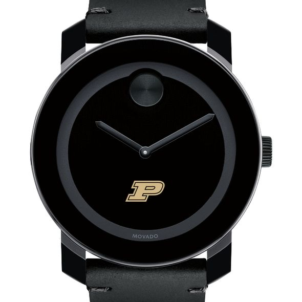 Purdue University Men's Movado BOLD with Leather Strap