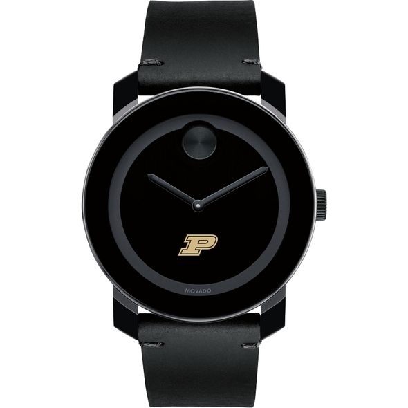 Purdue University Men's Movado BOLD with Leather Strap - Image 2