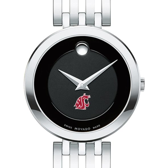 Washington State University Women's Movado Esparanza Stainless Steel Museum with Bracelet
