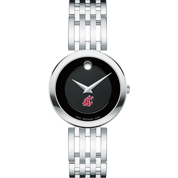Washington State University Women's Movado Esparanza Stainless Steel Museum with Bracelet - Image 2