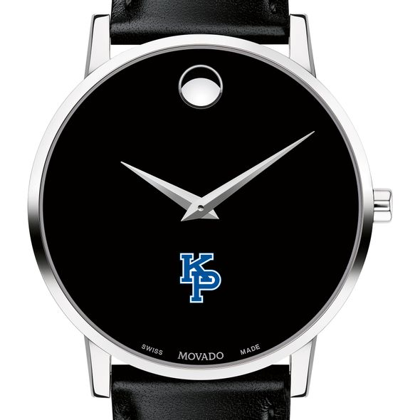 US Merchant Marine Academy Men's Movado Museum with Leather Strap - Image 1