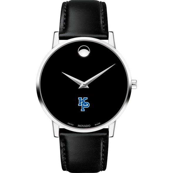 US Merchant Marine Academy Men's Movado Museum with Leather Strap - Image 2