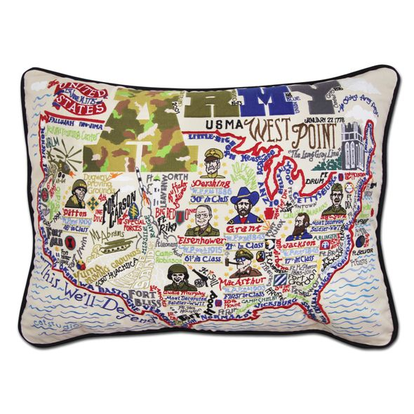 Army Embroidered Pillow - Image 1