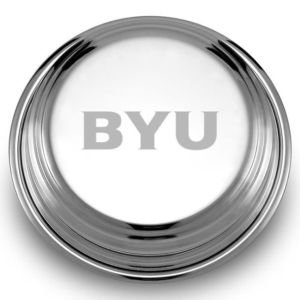 Brigham Young University Pewter Paperweight - Image 2