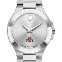 Ohio State Women's Movado Collection Stainless Steel Watch with Silver Dial