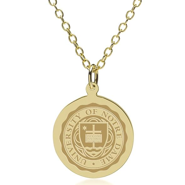 Notre dame 14k gold pendant chain at mhart co notre dame 14k gold pendant chain aloadofball Choice Image