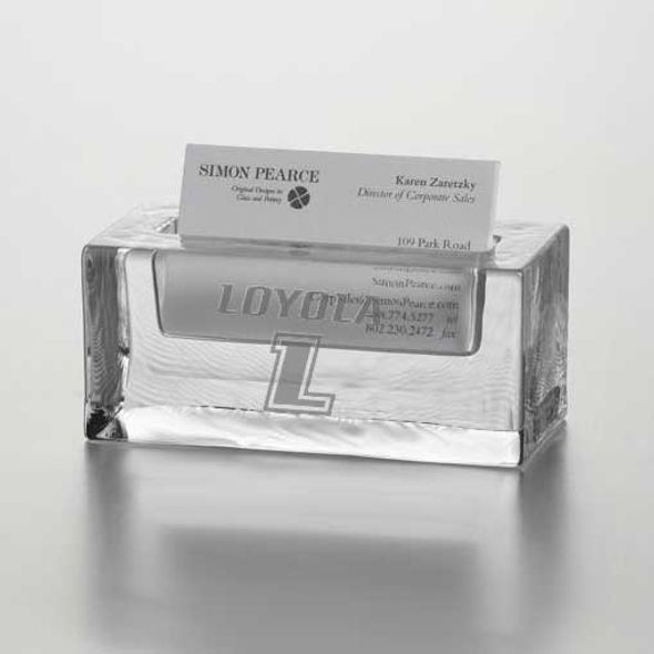 Loyola Glass Business Cardholder by Simon Pearce - Image 1