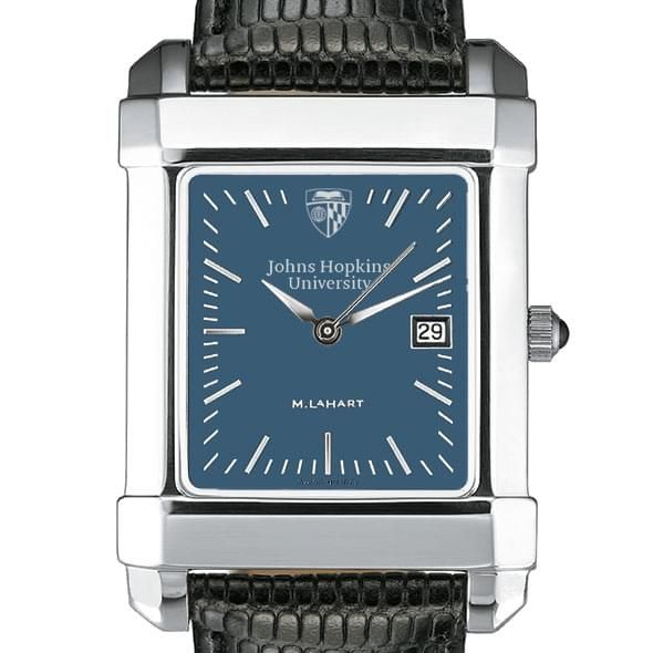 Johns Hopkins Men's Blue Quad Watch with Leather Strap