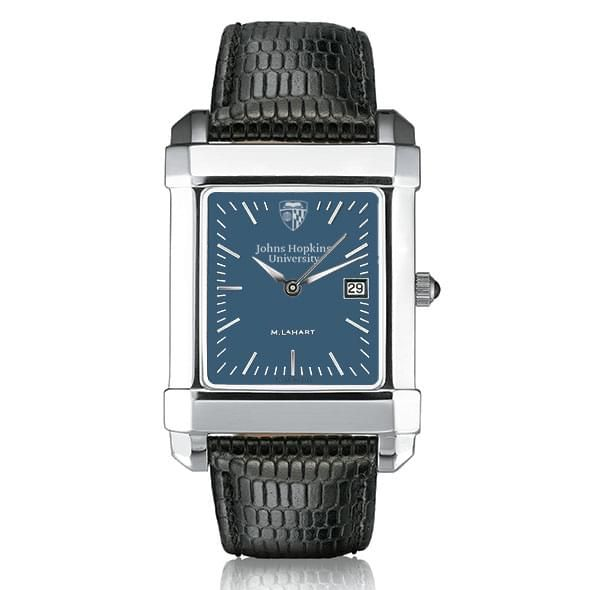 Johns Hopkins Men's Blue Quad Watch with Leather Strap - Image 2