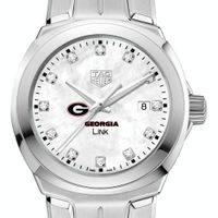 University of Georgia TAG Heuer Diamond Dial LINK for Women
