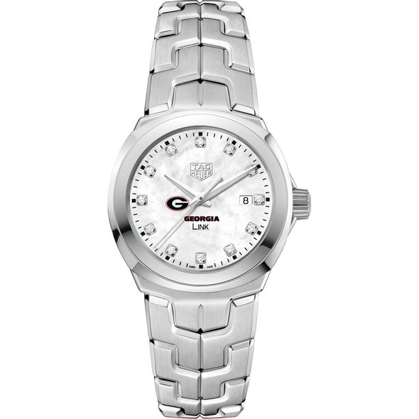 University of Georgia TAG Heuer Diamond Dial LINK for Women - Image 2