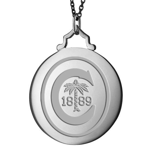 Clemson Monica Rich Kosann Round Charm in Silver with Stone - Image 2