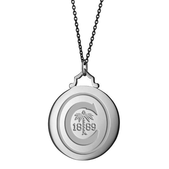 Clemson Monica Rich Kosann Round Charm in Silver with Stone - Image 3