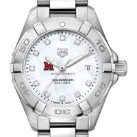 Miami University Women's TAG Heuer Steel Aquaracer with MOP Diamond Dial