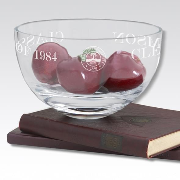 "Clemson 10"" Glass Celebration Bowl - Image 2"