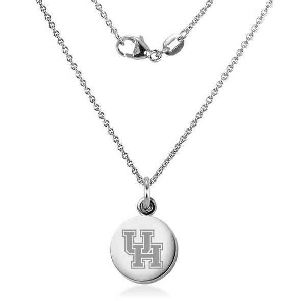 Houston Necklace with Charm in Sterling Silver - Image 1