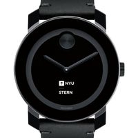 NYU Stern Men's Movado BOLD with Leather Strap