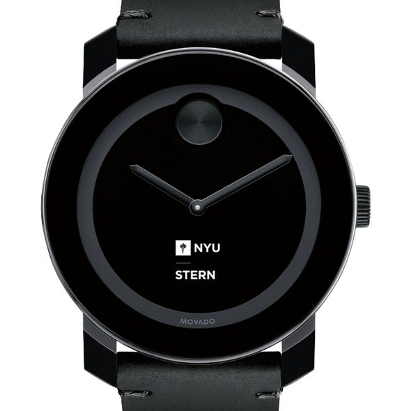 NYU Stern Men's Movado BOLD with Leather Strap - Image 1
