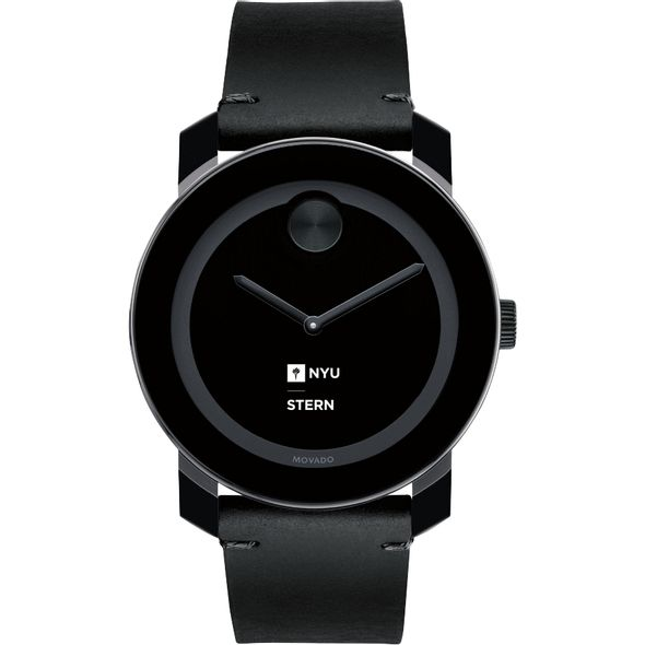 NYU Stern Men's Movado BOLD with Leather Strap - Image 2