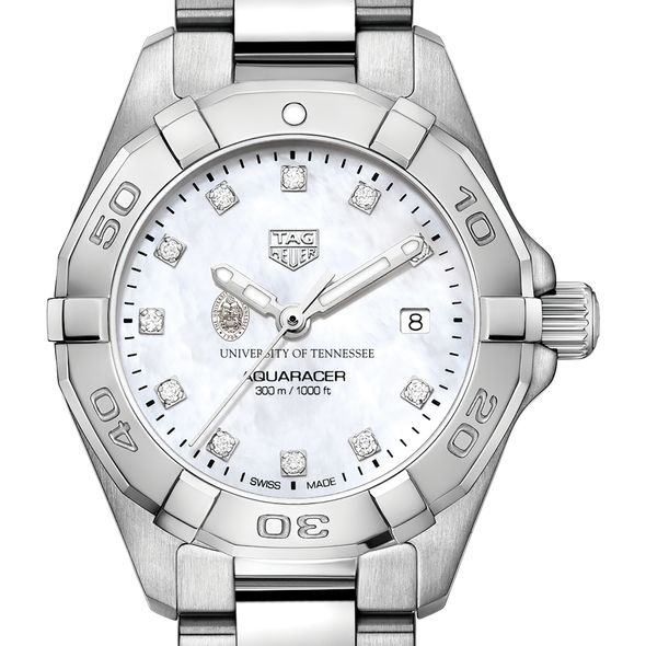 University of Tennessee W's TAG Heuer Steel Aquaracer w MOP Dia Dial