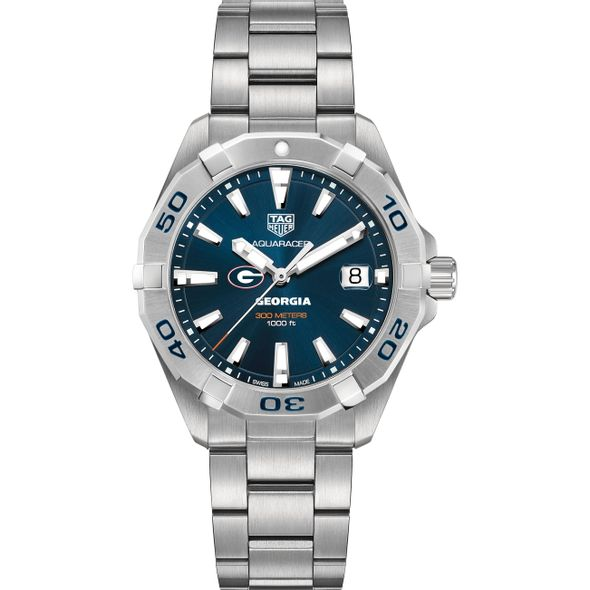 University of Georgia Men's TAG Heuer Steel Aquaracer with Blue Dial - Image 2
