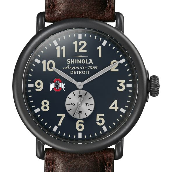 Ohio State Shinola Watch, The Runwell 47mm Midnight Blue Dial - Image 1
