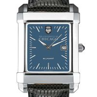 Chicago Men's Blue Quad Watch with Leather Strap