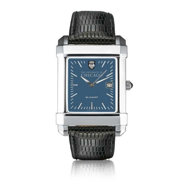 Chicago Men's Blue Quad Watch with Leather Strap - Image 2