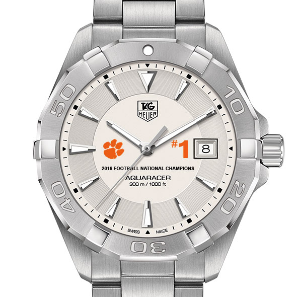 Clemson Men's TAG Heuer Steel Aquaracer- Championship Edition
