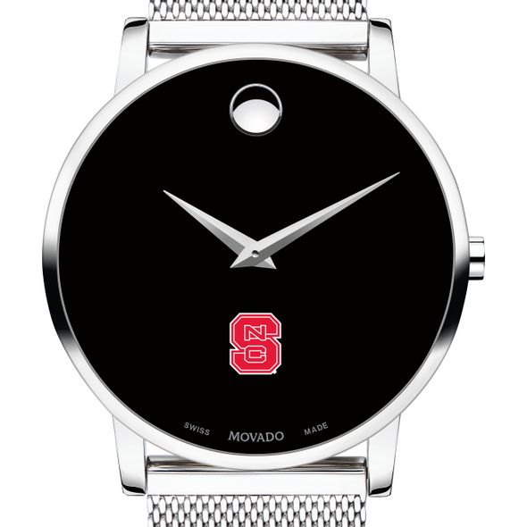 North Carolina State Men's Movado Museum with Mesh Bracelet