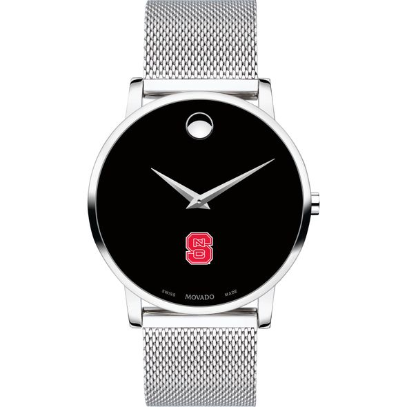 North Carolina State Men's Movado Museum with Mesh Bracelet - Image 2