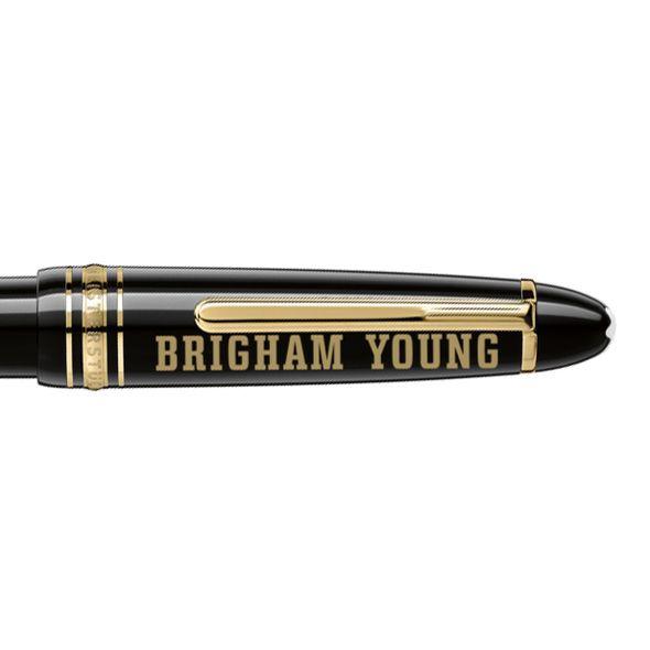 Brigham Young University Montblanc Meisterstück LeGrand Ballpoint Pen in Gold - Image 2
