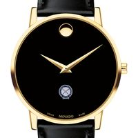 U.S. Naval Institute Men's Movado Gold Museum Classic Leather