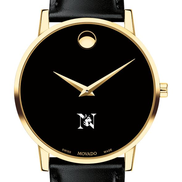 Northeastern Men's Movado Gold Museum Classic Leather