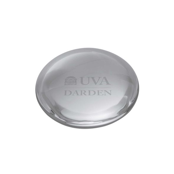 UVA Darden Glass Dome Paperweight by Simon Pearce