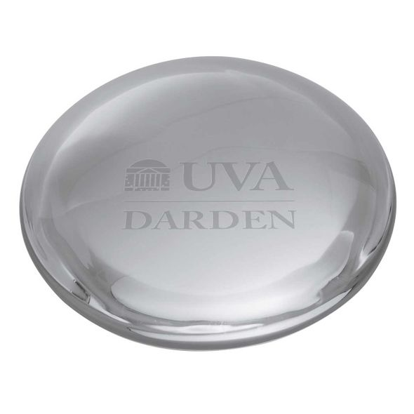 UVA Darden Glass Dome Paperweight by Simon Pearce - Image 2