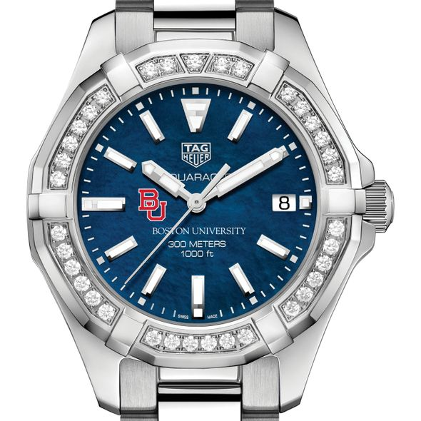 BU Women's TAG Heuer 35mm Steel Aquaracer with Blue Dial